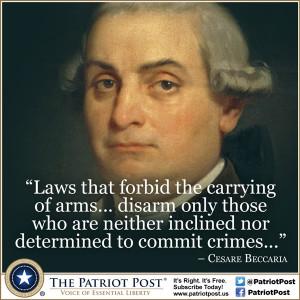 Quote: Cesare Beccaria on Gun Control