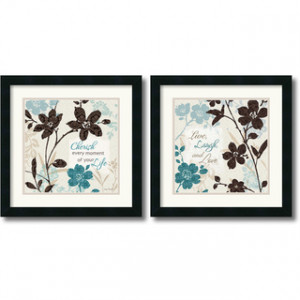 Lisa Audit 'Botanical Touch Quote' Framed Art Print Set