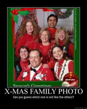 STRANGE FAMILY CHRISTMAS CARD