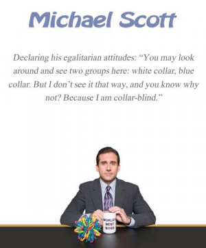 Michael scott quote the office collar blind
