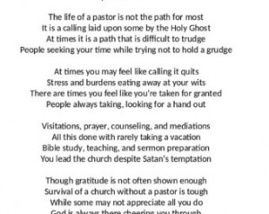 ... you for your faith, to your call? Pastor. Pastor Poems Pastor Poems