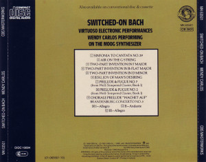 Car Tula Trasera Wendy Carlos Switched Bach Portada