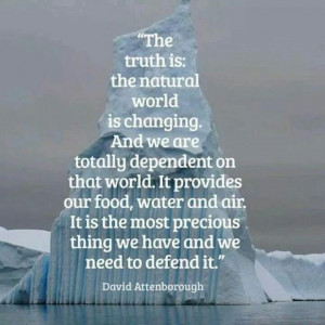David Attenborough quote about the #environment