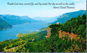 ... fly and lay waste the sky as well as the earth. Henry David Thoreau