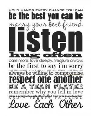 Marriage advice..
