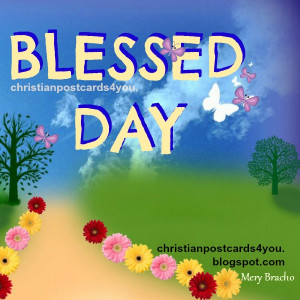 ... day, free christian image with nice christian quotes for a new day by