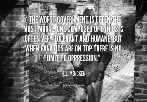 quote H L Mencken the worst government is often the most 51119 2 png