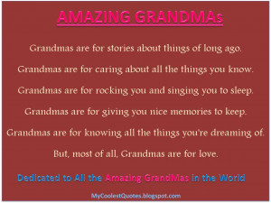 Go Back > Gallery For > I Love You Grandma Quotes