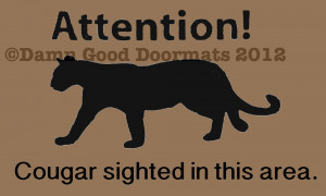 Cougar sighting doormat