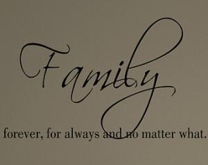Family Forever Symbols Decal- family forever for