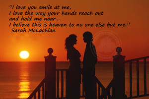 Romantic Quote: I Love You Smile At Me…