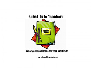 Substitute Teachers ~ What you should leave for your substitute