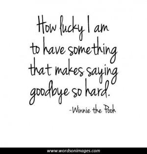 Quotes saying goodbye