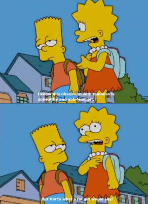 Lisa Finds Out She Is a Fat Girl In The Making On The Simpsons
