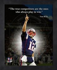 Tom Brady New England Patriots 8x10 Black Wood Framed Pro Quotes Photo ...