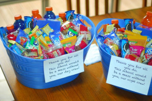 custodian or janitor appreciation gift. teacher gift Two tubs. one for ...