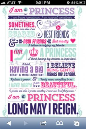 am a princess...