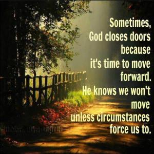 Myspace Graphics > God Quotes > sometimes God closes doors Graphic