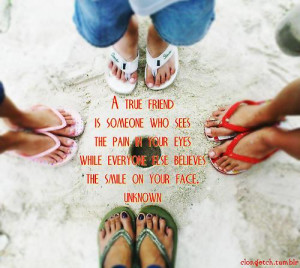 ... Friend Is Someone Who Sees The Pain In Your Eyes ~ Friendship Quote