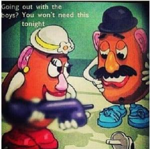 Potato Head Funny Credited