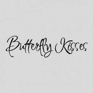 Butterfly Kisses...Nursery Wall Quotes Words by eyecandysigns, $10.99