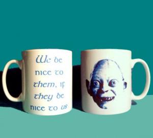 Gollum quote mug by GelertDesign on Etsy, £6.50