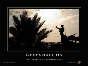Dependability Quotes Dependability Quotes Poster