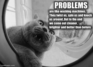 problems are like washing machines