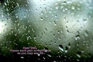Dear God Please send rain