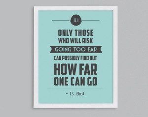 13.1 T.S. Eliot Retro Print - Typographic Inspirational Running Quote ...