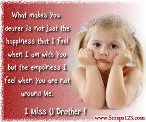 Miss You Brother Image - 1