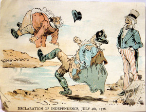 1880's Cartoon about the Declaration of Independence on ...