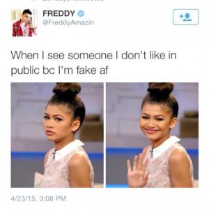 fake people, funny, quotes, true, zendaya