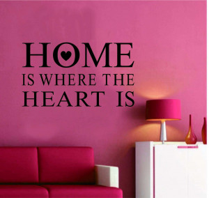 : Home » Shop » Bedroom » Home is where the heart is quotes wall ...