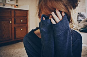 girl, hide, love, scared