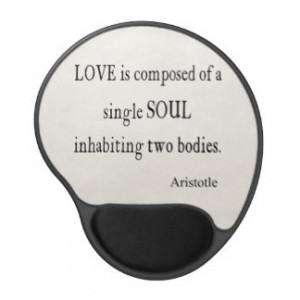 Vintage Aristotle Love Single Soul Quote Gel Mouse Pads
