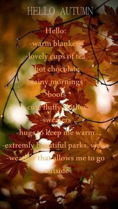 Hello Autumn Quotes
