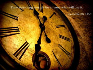 Leonardo Da Vinci quotations about time