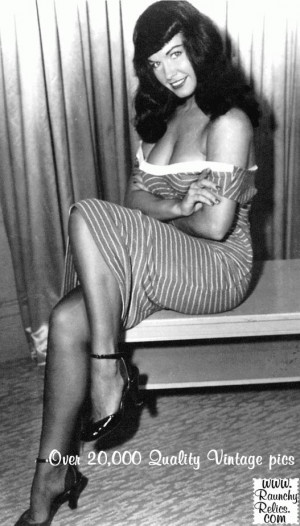 Bettie Page also has some amazing quotes. Check them out here .