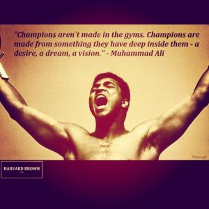 Muhammad Ali #Quote #Success #champion #Boxing #HardWork #TheGreatest ...