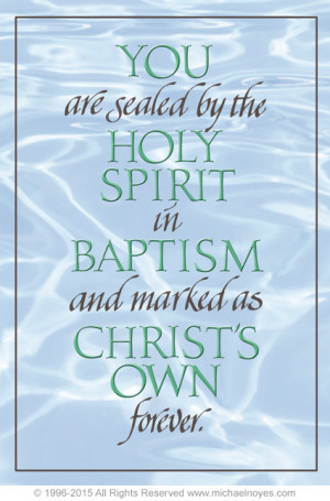 Baptism, From the Book of Common Prayer, Calligraphy Art Plaques ...