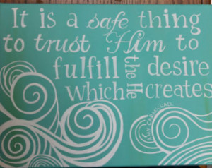 Inspirational Painting with Quote by Amy Carmichael