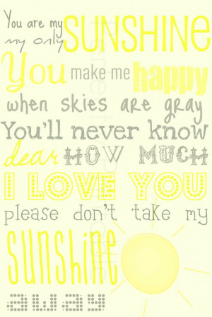 You Are My Sunshine Quotes You are my sunshine printable
