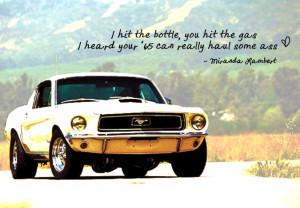 Mustang Sayings