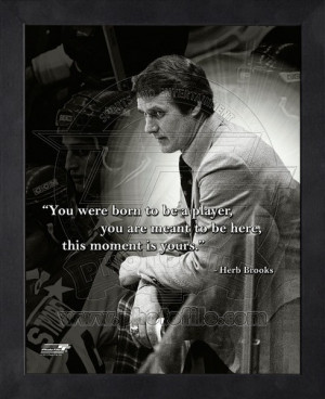 Framed Herb Brooks Hockey Coach Pro Quotes