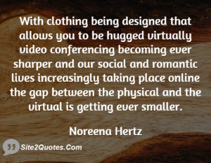 With clothing being designed that allows you to be hugged virtually ...