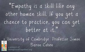 Empathy is a skill like any other human skill. If you get a chance to ...