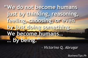 quote to being a successful human being