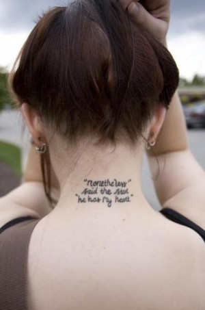 Stardust quote tattoos from Neil Gaiman