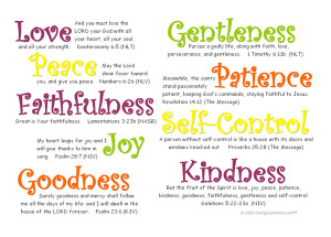 Happy Pentecost : Fruits of the Holy Spirit